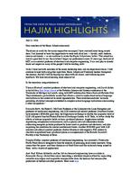 Hajim Highlights (July 11, 2016)