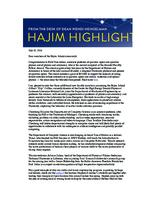 Hajim Highlights (July 18, 2016)