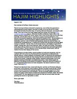 Hajim Highlights (August 8, 2016)