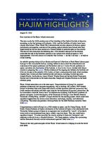 Hajim Highlights (August 15, 2016)