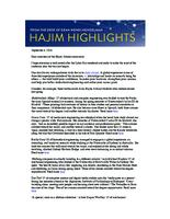 Hajim Highlights (September 6, 2016)