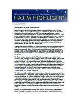 Hajim Highlights (September 26, 2016)