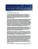 Hajim Highlights (October 3, 2016)