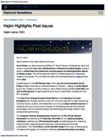 Hajim Highlights (October 31, 2016)