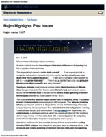 Hajim Highlights (November 7, 2016)