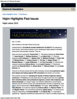 Hajim Highlights (December 12, 2016)
