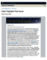 Hajim Highlights (February 20, 2017)