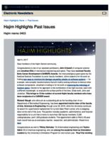Hajim Highlights (April 3, 2017)