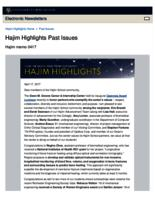 Hajim Highlights (April 17, 2017)