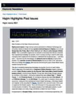 Hajim Highlights (May 1, 2017)