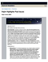 Hajim Highlights (September 25, 2017)