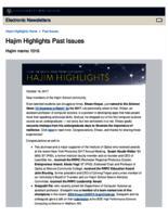 Hajim Highlights (October 16, 2017)