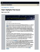 Hajim Highlights (October 30, 2017)