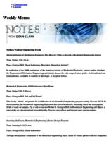 Notes from Dean Clark: Meliora Weekend Engineering Events (October 11, 2010)