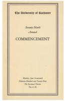 Commencement program, 1929