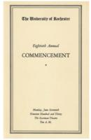 Commencement program, 1930
