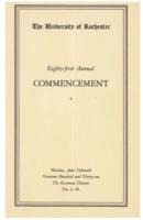 Commencement program, 1931