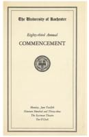 Commencement program, 1933