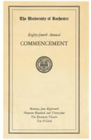Commencement program, 1934
