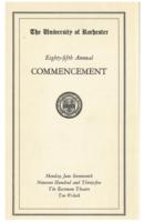 Commencement program, 1935