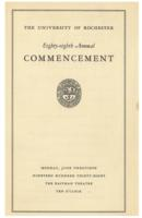 Commencement program, 1938