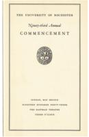 Commencement program, 1943