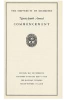 Commencement program, 1944
