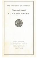 Commencement program, 1946