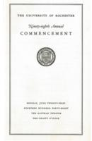 Commencement program, 1948