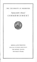 Commencement program, 1949
