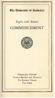 Commencement program, 1936