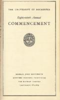 Commencement program, 1939