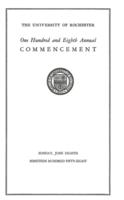 Commencement program, 1958