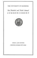 Commencement program, 1959