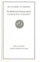 Commencement program, 1963