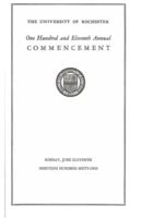 Commencement program, 1961
