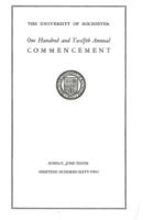 Commencement program, 1962