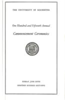 Commencement program, 1965