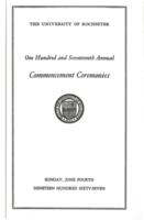 Commencement program, 1967