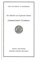Commencement program, 1968