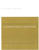 Commencement program, 1969