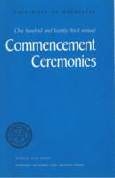Commencement program, 1973