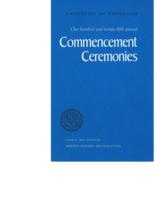 Commencement program, 1975