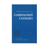 Commencement program, 1976