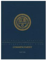 Commencement program, 2016