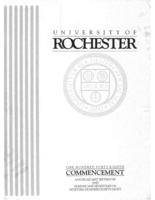 Commencement program, 1998