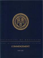Commencement program, 2006