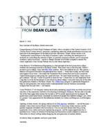 Notes from Dean Clark (March 21, 2016)