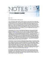 Notes from Dean Clark (May 2, 2016)