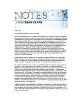 Notes from Dean Clark (June 6, 2016)